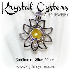 Sunflower Pendant - Silver Plated