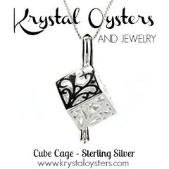Cube Cage Pendant - Sterling Silver