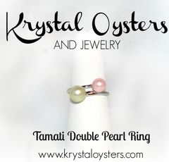 Tamati Double Pearl Ring - Sterling Silver