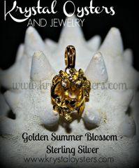 Golden Summer Blossom - Sterling Silver