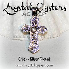 Cross Cage Pendant - Silver Plated