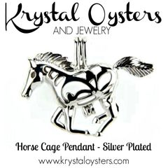 Horse Pendant - Silver Plated