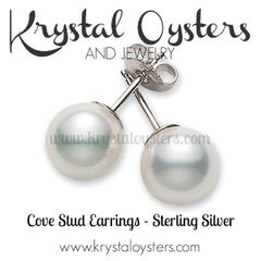 Cove Stud Earrings - Sterling Silver Setting