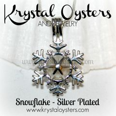 Snowflake Cage Pendant - Silver Plated