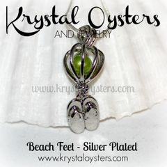 Beach Feet Cage - Silver Plated