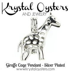Giraffe Pendant - Silver Plated