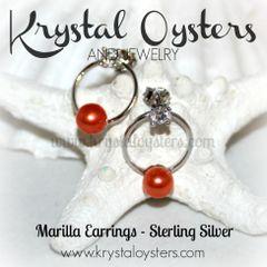 Marilla Earrings - Sterling Silver Setting