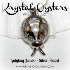Ladybug Jumbo Cage - Silver Plated
