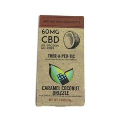 CBD Artisan Caramel Coconut Milk Chocolate bar - 60mg