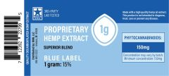CBD Blue Label (decarboxylated) Extract - 1 gram