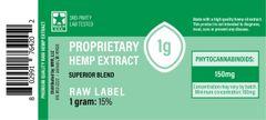 CBD Green Label (raw) Extract - 1 gram