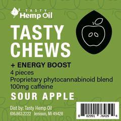 CBD Tasty Chews plus Energy Boost - Sour Apple
