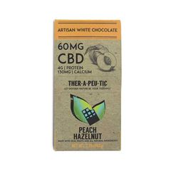 CBD Artisan Peach Hazelnut White Chocolate bar - 60mg
