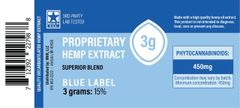CBD Blue Label (decarboxylated) Extract - 3 grams