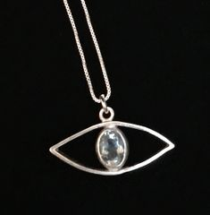 Evil Eye Pendant with Montana Blue Sapphire