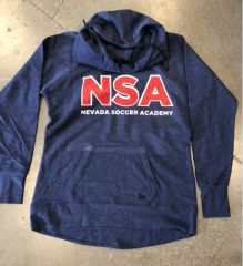 New Era Pullover Hoodie with GLITTER NSA logo - True Navy Heather