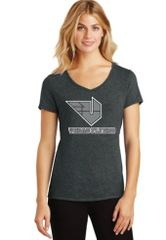 LADIES Perfect Tri Made V-Neck T-Shirt with Vegas Flyers Logo