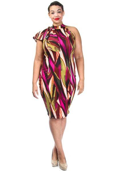 MULTI COLORED PLUS SIZE EVENING DRESS | Shop GetLikeMeStylez, for ...