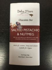 Salted Pistachio & Nutmeg Chocolate Bar