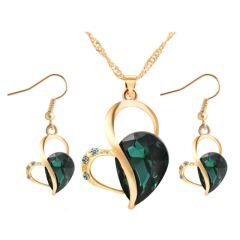 Heart Shaped Earring & Necklace Set