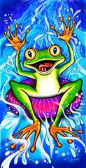 Crazy Frog Towel