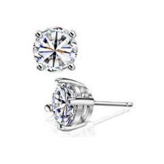 SS Cubic Zirconia Stud Earrings