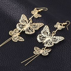 Hollow Butterfly Dangle Hook Earrings
