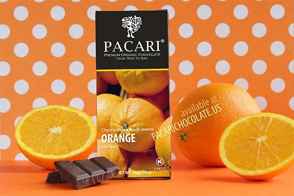 Pacari Orange Organic Chocolate Bar