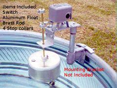DG2R Mechanical Float Switch, Aluminum Float, Brass Rod & Stop Collars