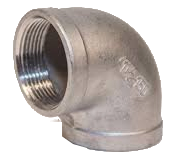 Stainless Steel Threaded 90 Ells