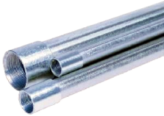 1-1/4 INCH X 21 FOOT THREADED AND COUPLED GALVANIZED PIPE Bundle of 3 Minimum