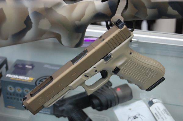 Glock 34 MOS Gen 4 9mm with Burnt Bronze & Magpul FDE