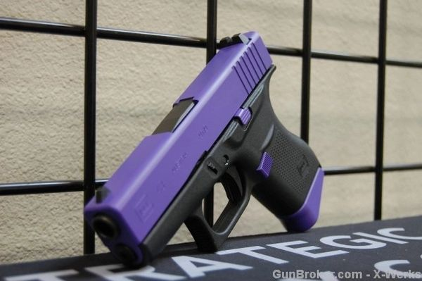 X-Werks Glock 43 9mm Purple Slide & Parts