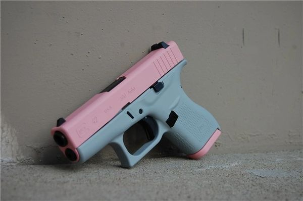 X-Werks Glock 42  380 Light Gray Bazooka Pink