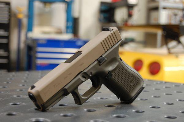 Glock 19 Gen 5 X-Werks Magpul OD Frame & FDE Slide G5 9mm