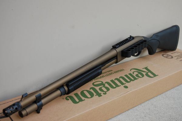 X-Werks Remington 870 Express Tactical Burnt Bronze w/Mesa Tactical SS