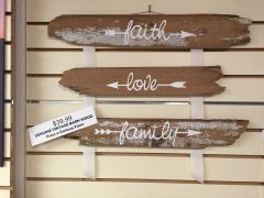 Wooden wall hanging trio