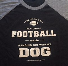 T-shirt: Football and Dogs