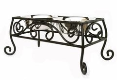 Diner: Elevated Wrought Iron Double Diner w Scrolls
