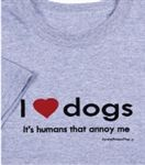 T-shirt: I Love Dogs