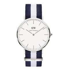 Daniel Wellington 0204DW Classic Glasgow Man Silver 40mm