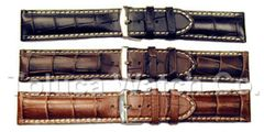 Hadley Roma Heavy Alligator Grain Panerai Style Watch Band Model MS2035