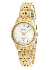 Seiko Women's Quartz Gold-Tone Classic Watch SUR892