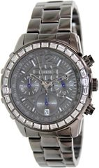Guess U0016L3 chronograph gunmetal dial stainless steel bracelet women watch