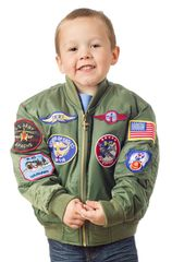 Children's MA-1 Jacket with Patches