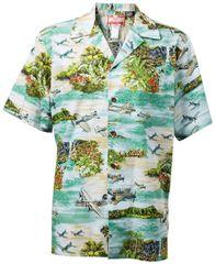 Hawaiian Shirt Green South Pacific - 100% cotton