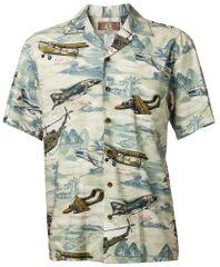 Hawaiian Shirt - Vietnam Era in Blue and Green