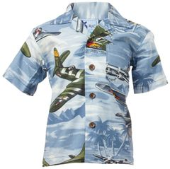 Boys Lagoon Blue Hawaiian Shirt