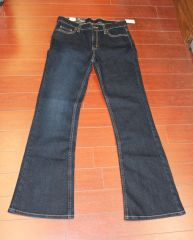 Girls Faded Glory Flare Jean Drkden Size 14R