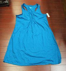 Women's Faded Glory Ruffle Blue Dress Blue Size L (12-14)